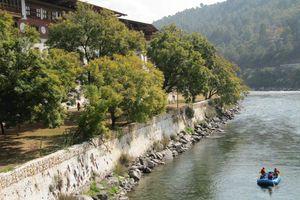 raften bij Punakha Dzong (1) - Punakha - Bhutan