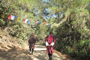 wandeling in Taktsang - Taktsang - Bhutan - foto: Mieke Arendsen