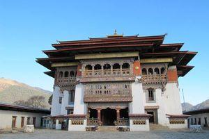 Vooraanzicht Gangtey Gompa klooster