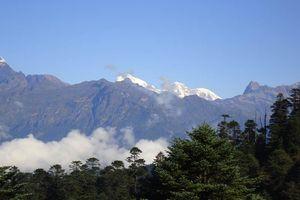 Uitzicht vanaf Druk Path op Jomolhari - Druk Path - Bhutan