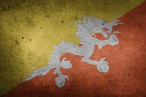 vlag van Bhutan