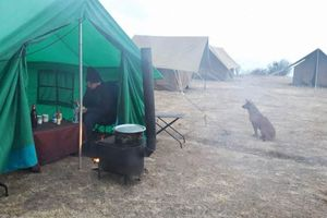 kamperen: deluxe camp keukentent - Bhutan - foto: lokale agent