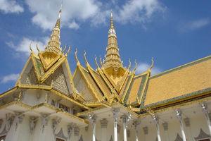 Cambodja - Phnom Penh - koninklijk paleis - detail van het dak