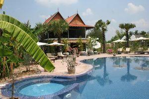 zwembad Battambang Resort - Maisons Wat Kor - Cambodja