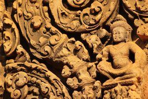 Detail Banteay Srei Temple Angkor Tempel in Siem Reap - Siem Reap - Cambodja