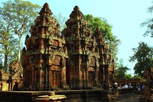 Banteay Srei Temple Angkor Tempel in Siem Reap - Siem Reap - Cambodja