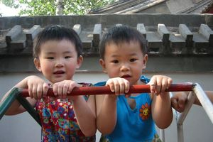 2 meisjes speeltuin - Beijing - China