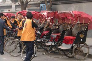 riskja met rijders voor Hutong tour - Beijing - China