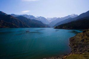 Heavenly lake Urumqi zijderoute