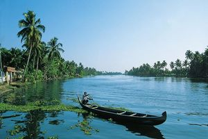 bootje in backwaters - Kerala - India