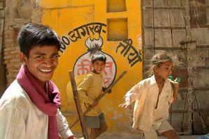 spelende jongens - India