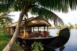 Boot restaurant, Kerala backwaters - India