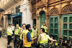 groepsfoto tijdens fietstour in Delhi (3) - Delhi - India
