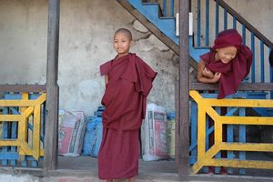 novices Enchey Monastery - Sikkim - India