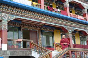 Rumtek monastery met monnik - Sikkim - India