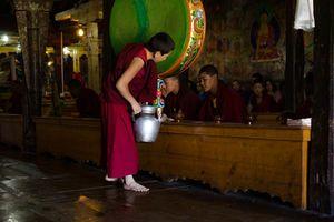 monnik in klooster in Ladakh - Ladakh - India