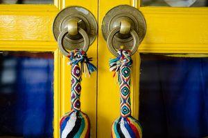 kleurrijke deur in Ladakh - Ladakh - India