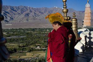 monnik in Ladakh - Ladakh - India