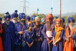 groep op Hola Mohalla festival - India