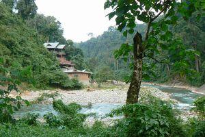 rivier bij Bukit Lawang - Sumatra - Indonesië