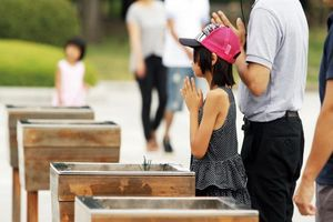 Hiroshima Peace Memorial Park kind - Hiroshima - Japan