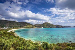Aharen Beach Tokashiki Island in Okinawa