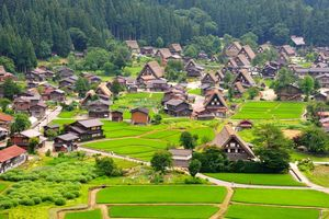 historisch japans dorpje Shirakawa-go