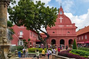 Kerk - Plein - Malacca - Maleisie - foto: flickr