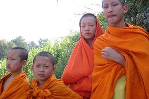 Monniken - Luang Prabang - Laos