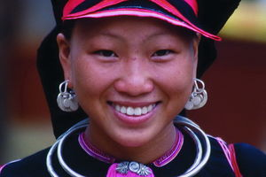 hmong vrouw close up