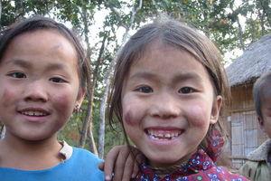 2 hmong meisjes - Laos