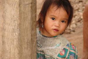 Tai Leu meisje - Mekong River Cruise - Laos
