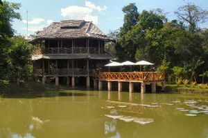 vooraanzicht Kingfisher Ecolodge - Kingfisher Ecolodge - Laos