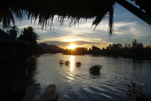 uitzicht Sala Done Khone Hotel - Sala Done Khone Hotel - Laos