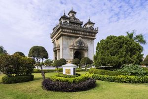 Tempel, Patuxai - Laos