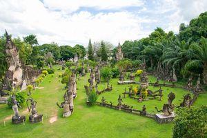 Wat Xieng Khuan Buddha park. Vientiane, Laos