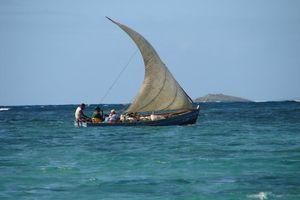 zeilbootje op zee