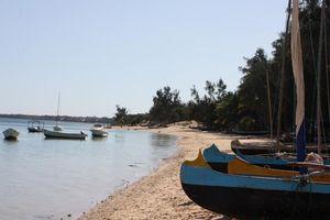 Boten op strand Ifaty