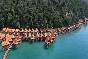 water chalets vanuit de lucht - Berjaya Langkawi - Maleisië