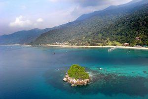 resort zicht vanaf Renggis Island