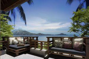zeezicht van de villa - Gaya Island Resort - Maleisië