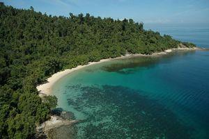 Pulau Gaya vanuit de lucht - Gaya Island Resort - Maleisië