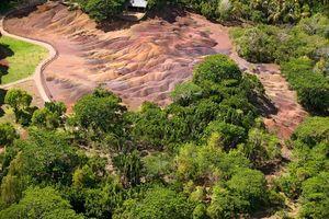 bovenaanzicht Seven Coloured Earths - Mauritius