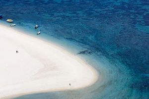 wit zandstrand - Mauritius