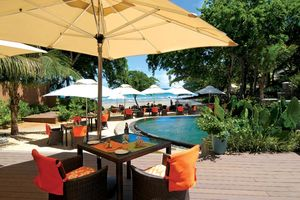 Tamarina Boutique Hotel, ontbijt bij het zwembad - Tamarina Boutique Hotel - Mauritius
