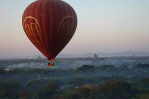 luchtballon overzicht - Bagan - Myanmar