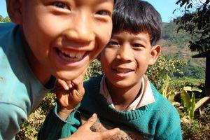 kinderen - Kalaw - Myanmar