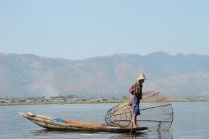 boot met visser