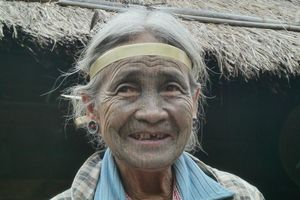 tattoo faced woman - Mindat - Mindat - Myanmar