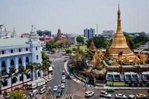 straatbeeld Yangon - Yangon - Myanmar